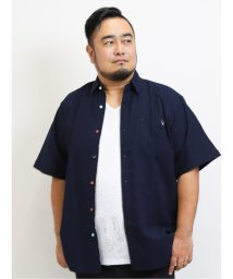GRAND-BACK/【大きいサイズ】グランバック/GRAND-BACK 綿オックス アニマル刺繍レギュラーカラー半袖シャツ/503382245
