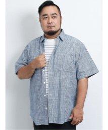 GRAND-BACK/【大きいサイズ】グランバック/GRAND-BACK スラブダンガリー レギュラーカラー半袖シャツ/503382249
