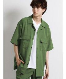 semanticdesign/ストレッチ オープンカラー胸ポケット半袖シャツ/503382252