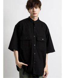 semanticdesign/ストレッチ バンドカラー半袖シェフシャツ/503382253