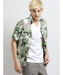 m.f.editorial/花柄オープンカラー半袖シャツ/503382265
