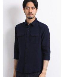 TAKA-Q/コットンリネン レギュラーカラー半袖シャツ/503382285