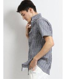 TAKA-Q/ワッシャーロンスト 衿ワイヤー半袖シャツ/503382288