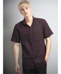 TAKA-Q/ジオメトリックジャガード衿ワイヤー半袖シャツ/503382290
