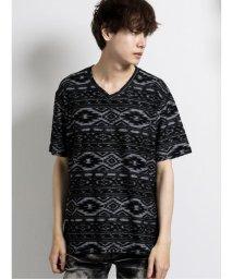 semanticdesign/ジャガードパイルボーダーVネック半袖Tシャツ/503382328