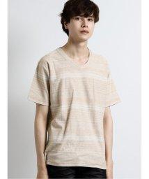 semanticdesign/ジャガード裏使いボーダーVネック半袖Tシャツ/503382329