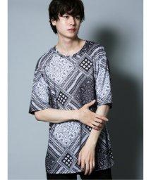 semanticdesign/ペイズリー柄 クルーネック半袖Tシャツ/503382350