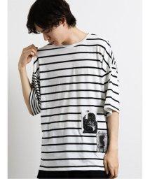 semanticdesign/ボーダー切替 クルーネック半袖BIGTシャツ/503382354