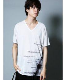 semanticdesign/シェラック/SHELLAC 総柄グラフィック Vネック半袖Tシャツ/503382363