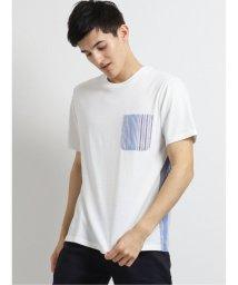 m.f.editorial/布帛ポケット付きクルーネック半袖Tシャツ/503382365