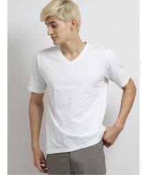 m.f.editorial/カラー無地 Vネック半袖Tシャツ/503382378