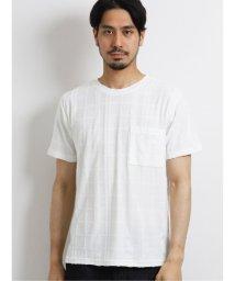 TAKA-Q/接触冷感パイルジャガード クルーネック半袖Tシャツ/503382413