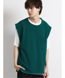 semanticdesign/ジャガードベスト+半袖Tシャツ アンサンブル/503382421