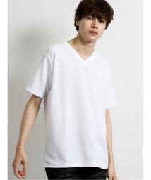 semanticdesign/ストレッチ ふくれジャガードVネック半袖Tシャツ/503382422
