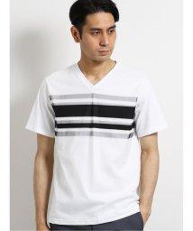 TAKA-Q/接触冷感バイオ天竺前身メッシュ Vネック半袖Tシャツ/503382435