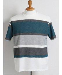 GRAND-BACK/【大きいサイズ】グランバック/GRAND-BACK 接触冷感ボーダー クルーネック半袖Tシャツ/503382439