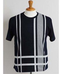 GRAND-BACK/【大きいサイズ】グランバック/GRAND-BACK 接触冷感チェックジャガード クルーネック半袖Tシャツ/503382440