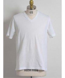 semanticdesign/バイアスジャガード Vネック半袖Tシャツ/503382444