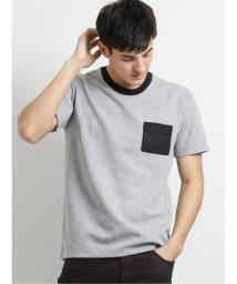 m.f.editorial/ポケット付きダブルフェイス クルーネック半袖Tシャツ/503382445