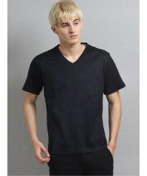 TAKA-Q/ピケ シングルシルケットVネック半袖Tシャツ/503382457