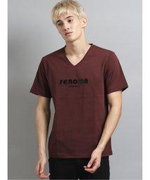 TAKA-Q/エナメル ロゴVネック半袖Tシャツ/503382459