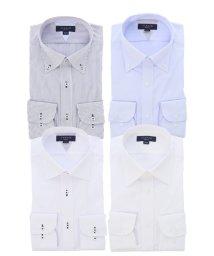 TAKA-Q/形態安定スリムフィット長袖ドレスシャツ4枚セット/503382525