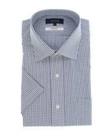 TAKA-Q/形態安定抗菌防臭レギュラーフィット ワイドカラー半袖シャツ/503382541