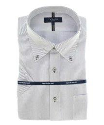 TAKA-Q/ノーアイロンストレッチ スリムフィットボタンダウン半袖ニットシャツ/503382579