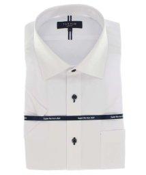 TAKA-Q/ノーアイロンストレッチ スリムフィットワイドカラー半袖ニットシャツ/503382580