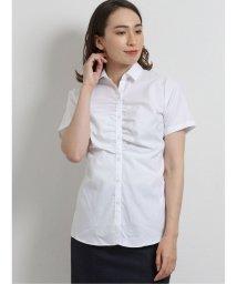 m.f.editorial/イージーケア スキッパーギャザー半袖シャツ/503383026