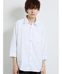 semanticdesign/ドビーアーガイル レギュラーカラー7分袖シャツ/503383708