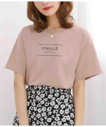 CHILLE/CHILLEテキストプリントTシャツ/503383814
