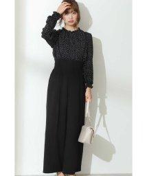 PROPORTION BODY DRESSING/サスペンダー付センタープレスワイドパンツ:ブラックWEB限定カラー/503383945
