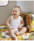 PETIT BATEAU/【BEBE・ENFANT】ホワイトノースリーブボディ2枚組(3ヶ月60cm)/503364550