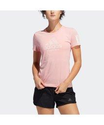 adidas/アディダス adidas Run It バッジ オブ スポーツ ソフトTシャツ [Run It Badge of Sport Soft Tee] (ピンク)/503380021