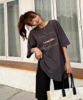 ad thie/裾ラウンドプリントTシャツ/503385648
