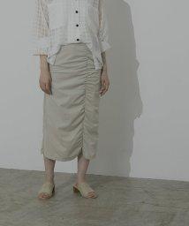 miette/シャーリングデザインロングスカート/503387062