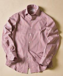 SHIPS MEN/SD:ALBINI社製生地 レッド ジャージー ワンピースカラー ネルシャツ/503387507