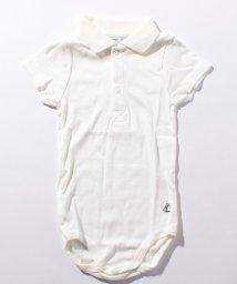 PETIT BATEAU/【BEBE・ENFANT】衿付き半袖ボディ(G)/503364559