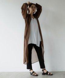 marjour/SHEER SHIRT DRESS/503389608