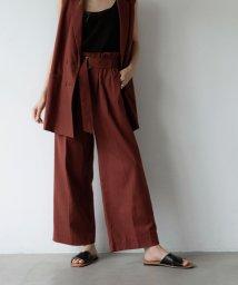 marjour/LINEN BLEND HIGH WEAST PANTS/503389610