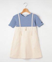 3can4on(Kids)/【100-140cm】テレコTシャツドッキングワンピース/503389878