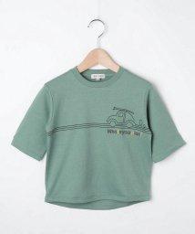 SHOO・LA・RUE(Kids) /【80-130cm】オーガニックコットン5分袖恐竜/車Tシャツ/503390199