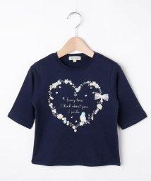 SHOO・LA・RUE(Kids) /【80-130cm】オーガニックコットン5分袖ハート/香水Tシャツ/503390200