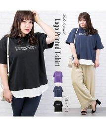 clette/フェイクレイヤードロゴプリントTシャツ/503390498