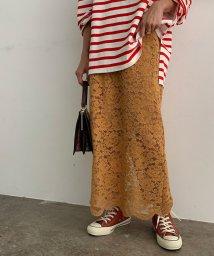 ROPE' mademoiselle/レースタイトロングスカート/503390545