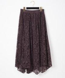 GRACE CONTINENTAL/レース切替スカート/503391866