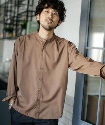 nano・universe/《WEB限定》エントリーワイドバンドカラーシャツ/503200475