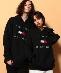 TOMMY HILFIGER/フラッグロゴ プリントパーカー/503383122