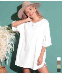 anap mimpi/ラウンドヘムオーバーサイズ半袖Tシャツ/503392038